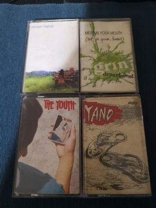 Cassette - (lot) esaserheads, youth, yano, grin dept.