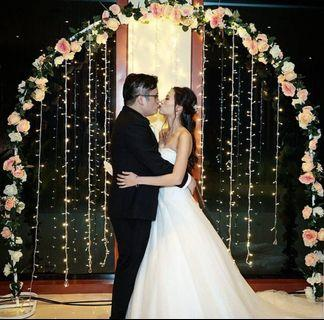 🚚 PROMO Wedding floral arch solemnisation photo booth fairylights