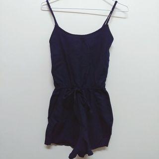 🚚 泰國購入連身短褲 (藍)