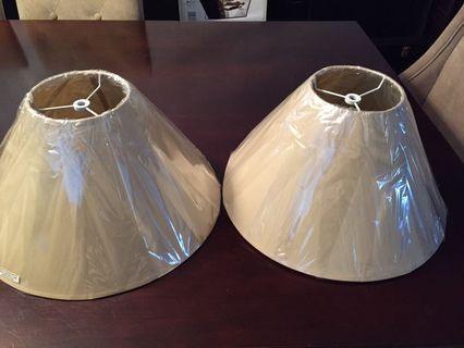 Pair of lamp shades