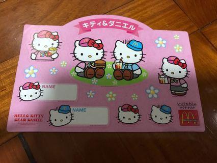 懷舊日本M記Hello Kitty 貼紙 (Sanrio) 2000年