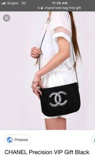Chanel sling black chain