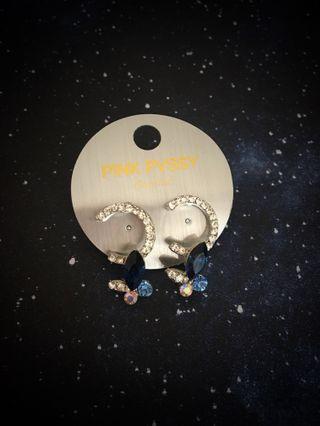 Crystal double C earrings 耳環