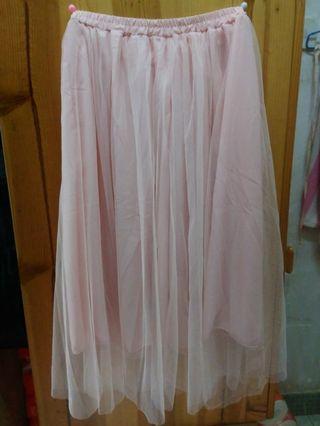 粉紅色紗裙