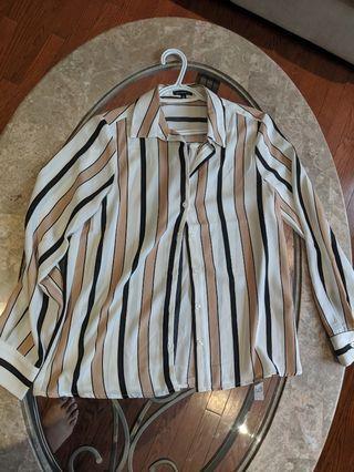 Dynamite dress shirt casual SZ S