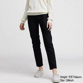 Uniqlo women's high rise cigarette jeans black