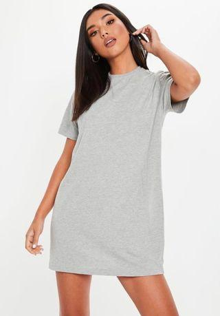 Missguided  Grey T-shirt Dress (Size 2)