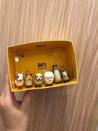 整組6支賣場*韓國超夯狗鳥扭蛋 轉蛋 食玩 公仔玩具