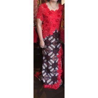 Batik dress , dress , gaun malam, gaun , baju wanita