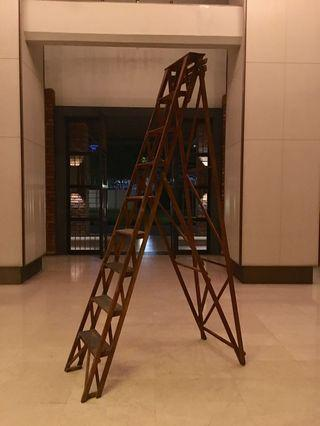 Very Rare 9 Feet Colonial Malaya Shop Ladder c. 1920s/30s in Perfect Original Condition.