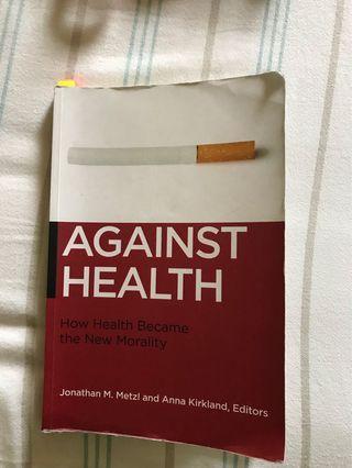 Against Health by Jonathan Metzl