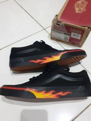 Vans Oldskool Flame Wall Black/Black