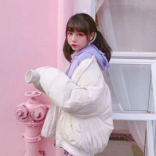 🚚 私物|白色羽絨oversized外套 雙面穿