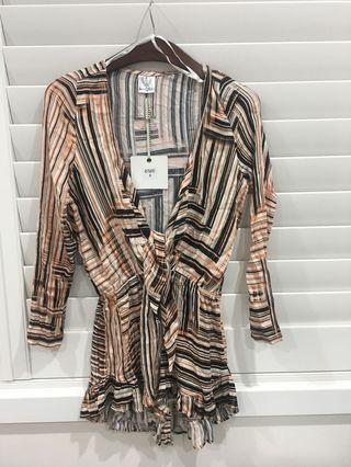 Hello Molly print playsuit size 8