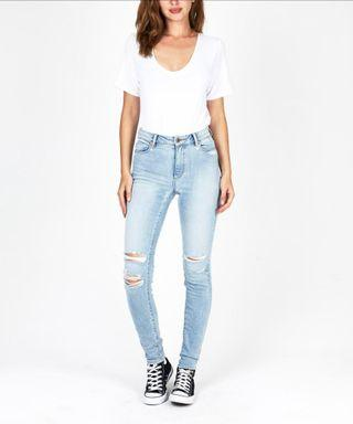 Neuw Marilyn Skinny High Waisted Jeans in Marine Blue - Size 27 RRP $190