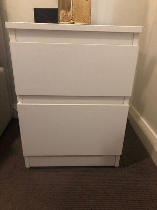 Bedside table drawers