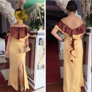 Dress formal Backless