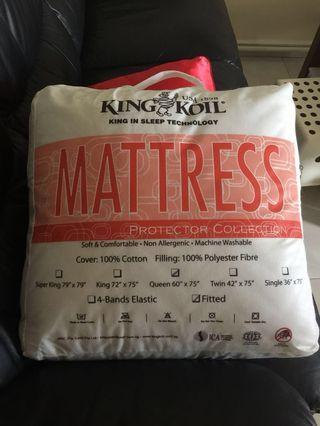 mattress protector : queen (king koil) n 2 single (ikea)