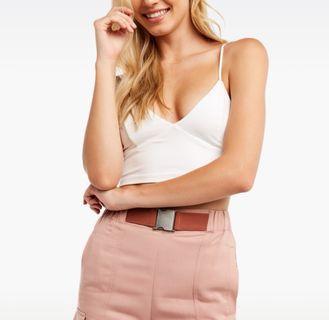 Bardot Ellis Bralette Cami Top in White - Size S/M RRP $40