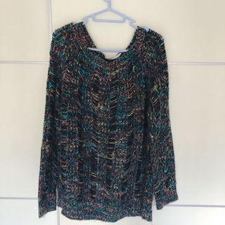 Forever 21 women's loose cut knit mix color sweater 有型混色鬆身毛衣
