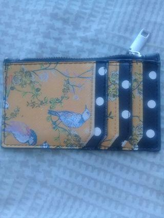 Original Mango Card Holder with coin zip attached