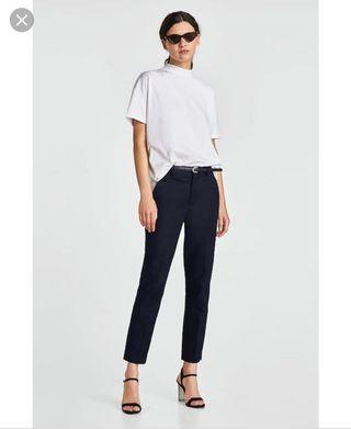 Zara slim trouser with belt