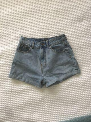 High waisted denim shorts size 8
