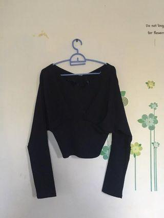Blouse navy croptee