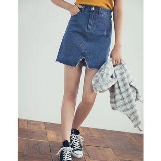 🚚 降‼️轉賣 全新現貨 PAZZO 首爾女孩不收邊牛仔裙