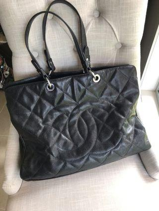 Chanel large leather bag- soft leather
