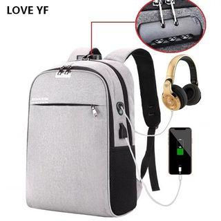 Branded Classy Backpack with USB and earphones Output [FREE REGISTERED MAIL]