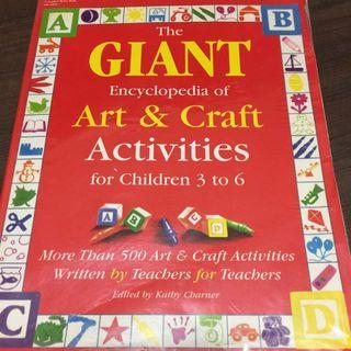 🚚 The Giant Book Encyclopedia Of Art & Craft Activities 3 To 6 YO
