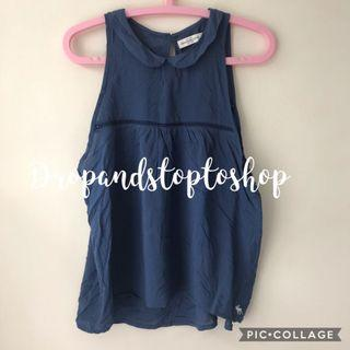 Abercrombie not Hollister 藍色背心 sleeveless off shoulder A&F