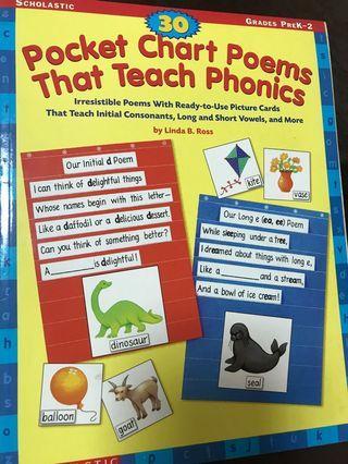 Scholastic Pocket Chart Poems that teach phonics