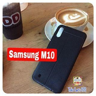 Softcase Autofocus Samsung M10 - Cover Hitam - Leather Case