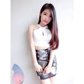 Elegant Sets (Top + Skirt -Only Wear Once)