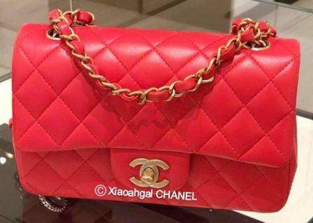 f05532de9dcf1b **RESERVED** QYOP Chanel authentic brand new limited edition matt gold  hardware red