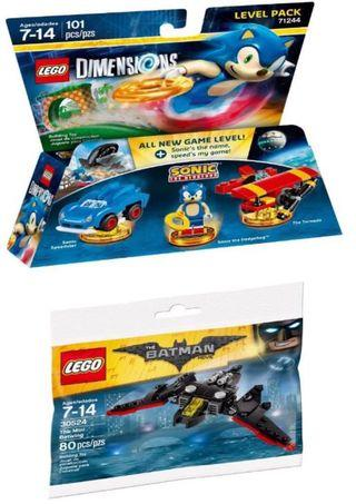 LEGO Dimensions Sonic Hedgedog level pack 71244 & Mini Batwing polybag 30524