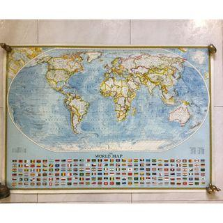 1994 National Geographic Society World Map