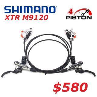 Shimano XTR M9120 4-Piston COOLING FINS Hydraulic Brake--------------------(MT2 MT4 MT5 M5e MT6 MT7 MT8 MT 1893 MT Trail SPORT CARBON M9120 M8020 M8000 M7000 M315 Bike Master BikeMaster )