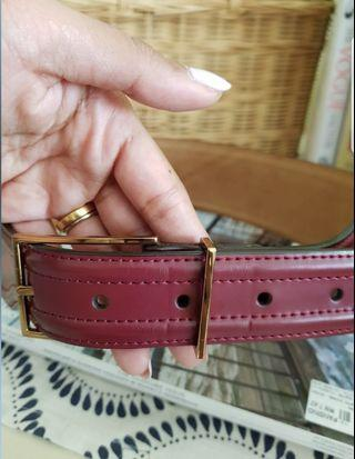 Charles & Keith maroon leather belt M