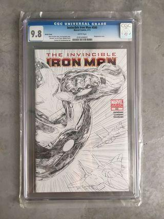 MARVEL Invincible Iron Man #500 Sketch Variant (CGC 9.8)