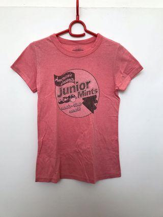 🚚 Pink graphic cotton t shirt xs s