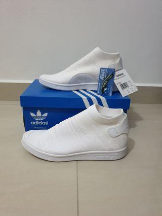OVER 60% OFF BNIB NEW Authentic Adidas Originals Women's Stan Smith Sock Primeknit White US6 & US7 #EndgameYourExcess