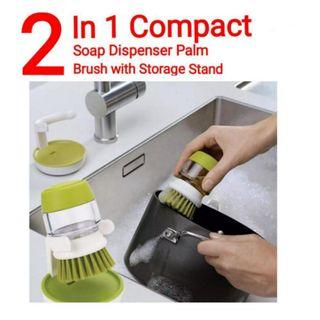 👍👍2 in 1 Compact and convenient Palm Scrub Dish Liquid Soap Dispenser with Washing Storage Stand. Usual Price :$39.90. Now : $14.90 + FREE mail postage!!!
