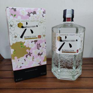 JAPAN ROKU GIN WITH BOX (BRAND NEW)