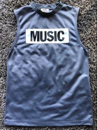 Acne studios 'NEW MUSIC' sleeveless top in grey