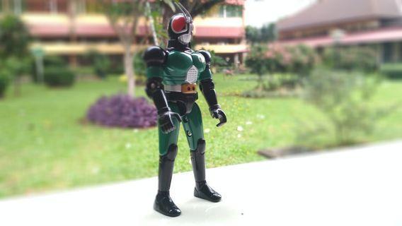 Black RX Kamen Rider Vintage Action Figure.