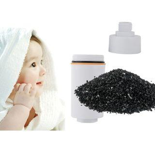 Shower water charcoal filter