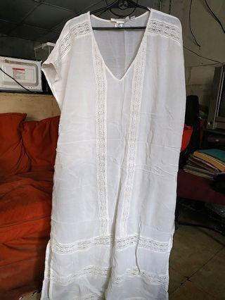 H&M Long White Cover Up